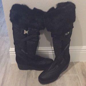 Coach mink boots